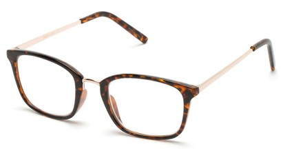 Angle of The Roland in Tortoise/Gold, Women's and Men's Square Reading Glasses