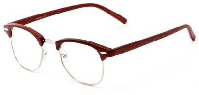 Angle of The Fig in Brown, Women's and Men's Browline Reading Glasses