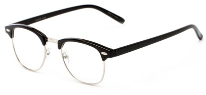 Angle of The Fig in Black, Women's and Men's Browline Reading Glasses