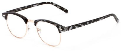 Angle of The Fig in Grey Tortoise, Women's and Men's Browline Reading Glasses