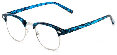 Angle of The Fig in Blue Tortoise, Women's and Men's Browline Reading Glasses