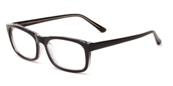 Angle of The Arthington in Glossy Black, Women's and Men's Rectangle Reading Glasses