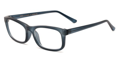 Angle of The Arthington in Matte Blue, Women's and Men's Rectangle Reading Glasses
