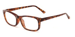 Angle of The Arthington in Matte Tortoise, Women's and Men's Rectangle Reading Glasses