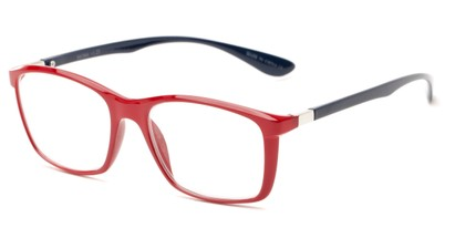Angle of The Sullivan in Red/Blue, Women's and Men's Rectangle Reading Glasses
