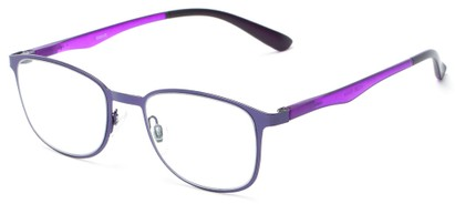 Angle of The Masterpiece in Purple, Women's and Men's Square Reading Glasses