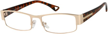 Angle of The Emry in Gold with Brown Tortoise, Women's and Men's