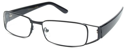 Angle of The Kent in Black, Women's and Men's Rectangle Reading Glasses
