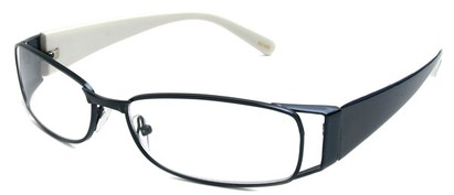 Angle of The Kent in Blue and White, Women's and Men's Rectangle Reading Glasses