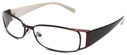 Angle of The Kent in Bronze and White, Women's and Men's Rectangle Reading Glasses