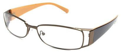 Angle of The Kent in Copper and Orange, Women's and Men's Rectangle Reading Glasses