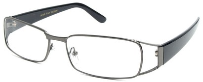 Angle of The Kent in Grey and Black, Women's and Men's Rectangle Reading Glasses