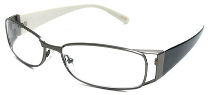 Angle of The Kent in Grey and White, Women's and Men's Rectangle Reading Glasses