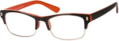 Angle of The Felix in Black/Orange, Women's and Men's