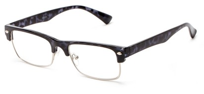 Angle of The Dickens in Grey Tortoise, Women's and Men's Browline Reading Glasses