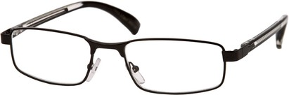 Angle of The Omaha in Matte Black, Women's and Men's Rectangle Reading Glasses