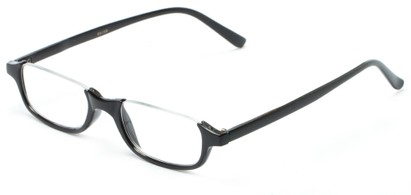 Angle of The Albus in Black, Women's and Men's Rectangle Reading Glasses