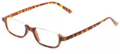 Angle of The Albus in Brown Tortoise, Women's and Men's Rectangle Reading Glasses