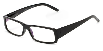 Angle of The Womack Computer Reader in Black with Clear, Women's and Men's Rectangle Reading Glasses