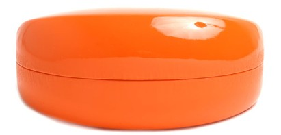 Angle of Colorful Reading Glasses Case in Orange, Women's and Men's  Hard Cases