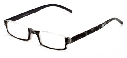 Angle of The Brent in Black/White Tortoise, Women's and Men's Rectangle Reading Glasses