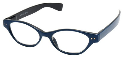 Angle of The Cat in Blue and Black, Women's Cat Eye Reading Glasses