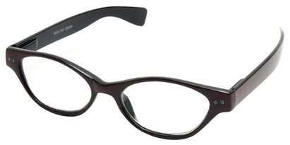 Angle of The Cat in Maroon and Black, Women's Cat Eye Reading Glasses