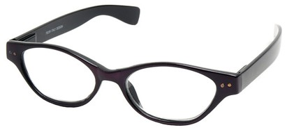 Angle of The Cat in Purple and Black, Women's Cat Eye Reading Glasses