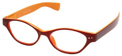 Angle of The Cat in Red and Orange, Women's Cat Eye Reading Glasses