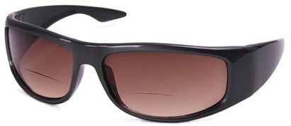 Angle of The Lance Bifocal Reading Sunglasses in Grey with Amber, Women's and Men's Sport & Wrap-Around Reading Sunglasses