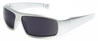 Angle of The Coldwater Reading Sunglasses in Silver with Smoke, Women's and Men's Sport & Wrap-Around Reading Sunglasses