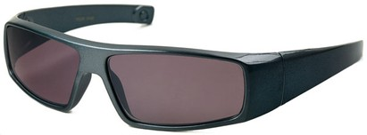 Angle of The Coldwater Reading Sunglasses in Blue with Smoke, Women's and Men's Sport & Wrap-Around Reading Sunglasses