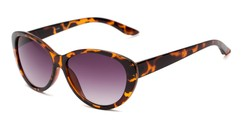 Angle of The Mary Reading Sunglasses in Brown Tortoise with Smoke, Women's Cat Eye Reading Sunglasses