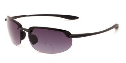 Angle of The Jack Bifocal Reading Sunglasses in Black with Smoke, Women's and Men's Sport & Wrap-Around Reading Sunglasses