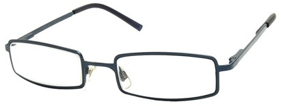 Angle of The Henderson in Blue Frame, Women's and Men's