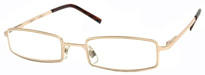 Angle of The Henderson in Gold Frame, Women's and Men's