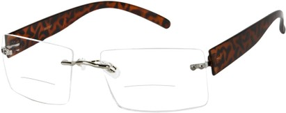Angle of The Alamo Bifocal in Tortoise, Women's and Men's Rectangle Reading Glasses