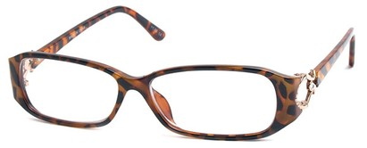 Angle of The Monaco in Brown Tortoise, Women's and Men's