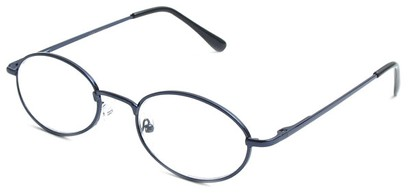 Angle of The Lafayette in Blue and Black Frame, Women's and Men's