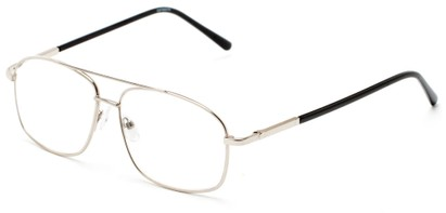 Angle of The Thorton in Silver, Women's and Men's Aviator Reading Glasses