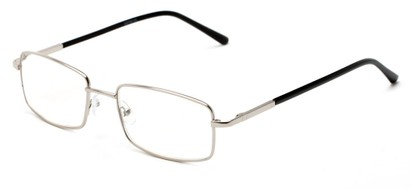 Angle of The Detective in Silver, Women's and Men's Square Reading Glasses