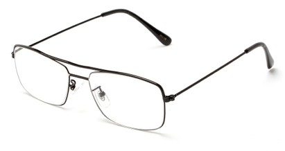 Angle of The Twain in Black, Women's and Men's Retro Square Reading Glasses