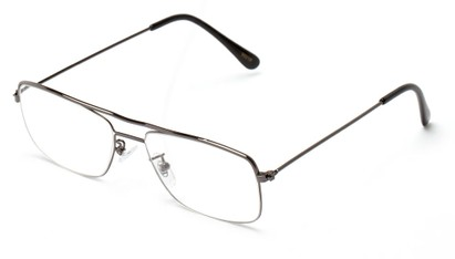 Angle of The Twain in Grey, Women's and Men's Retro Square Reading Glasses