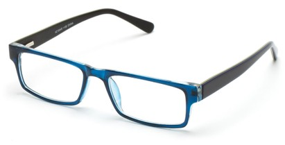 Angle of The Holland in Blue/Black, Women's and Men's Rectangle Reading Glasses