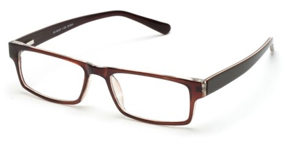 Angle of The Holland in Brown, Women's and Men's Rectangle Reading Glasses