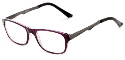 Angle of The Candice Aluminum Reader in Purple/Grey, Women's and Men's Cat Eye Reading Glasses