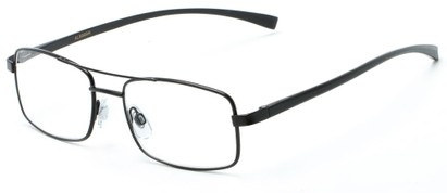 Angle of The Lennie Aluminum Reader in Black, Men's Aviator Reading Glasses