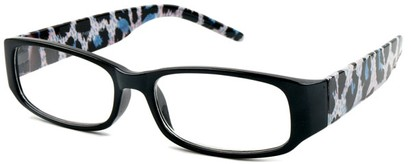 Angle of The Malanie in Black/Blue Leopard, Women's and Men's