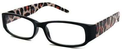 Angle of The Malanie in Black/red Leopard, Women's and Men's
