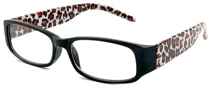 Angle of The Malanie in Black/Red Cheetah, Women's and Men's